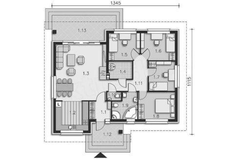 rodinny-dom-trendhouse-bungalov-dom-trd---210-podorys