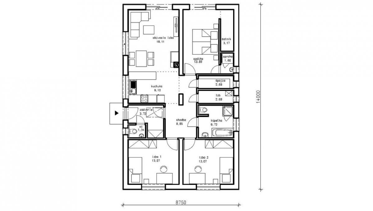 rodinny-dom-trendhouse-bungalov-trd---124-podorys